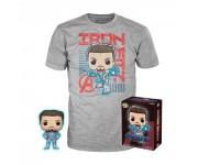 Iron Man GitD Figure and T-Shirt Box Set (Размер M) (Эксклюзив Target) из фильма Avengers: Endgame