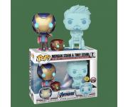 Hologram Tony Stark and Morgan with Helmet GitD 2-pack (Vaulted) (Эксклюзив Pop-In-A-Box) из фильма Avengers: Endgame