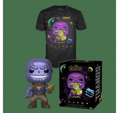 Фигурка и футболка Танос (Thanos POP and Tee (Размер M)) Мстители: Война бесконечности
