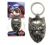 Black Panther Head Pewter Keychain Monogram из фильма Captain America: Civil War
