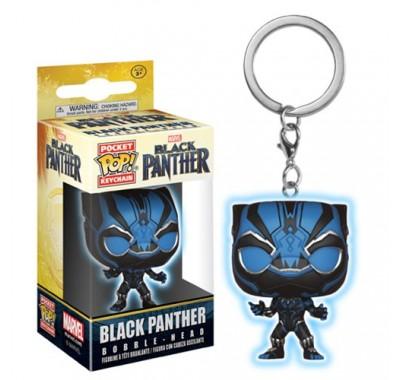 Чёрная Пантера светящийся брелок (Black Panther GitD Keychain) из фильма Черная Пантера Марвел