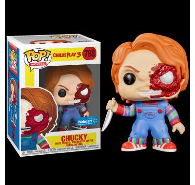 Чаки поврежденный со стикером (Chucky Battle Damaged (Эксклюзив Walmart)) из фильма Детские игры