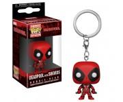 Deadpool with two swords keychain из комиксов Marvel