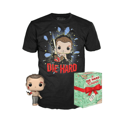 Фигурка и футболка Джон МакКлейн (John McClane Die Hard POP and Tee (Размер L)) из фильма Крепкий орешек