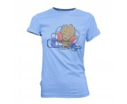 Groot with Tape Deck Super Cute Juniors T-Shirt (Размер M) из фильма Guardians of the Galaxy