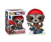 Rocket Raccoon on Snowmobile из комиксов Marvel Holiday