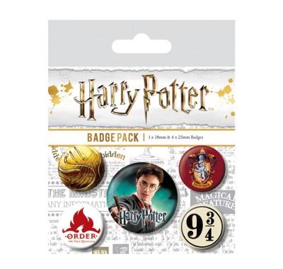 Набор значков Гарри Поттер (Harry Potter Gryffindor Badge Pack) из фильма Гарри Поттер