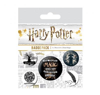 Набор значков Гарри Поттер (Harry Potter Symbols Badge Pack) из фильма Гарри Поттер