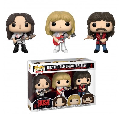 Гедди Ли, Алекс Лайфсон и Нил Пирт (Geddy Lee, Alex Lifeson and Neil Peart 3-Pack (Эксклюзив Fan Expo Canada)) из группы Раш