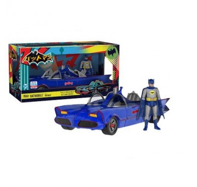 Бэтмен синий на Бэтмобиле (Batmobile Blue with Batman (Эксклюзив)) из комиксов ДС Комикс