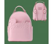 Barbie Rose Gold Logo Chain Strap Convertible Mini Backpack Loungefly из серии Barbie