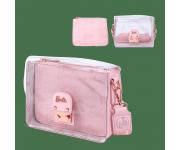 Barbie Rose Gold Metal Lock Clear Crossbody Bag Loungefly из серии Barbie
