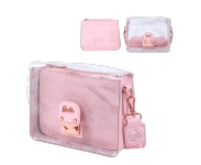 Barbie Rose Gold Metal Lock Clear Crossbody Bag Loungefly из серии Barbie