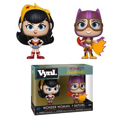 Чудо-женщина и Бэтгёрл винл. (Wonder Woman and Batgirl Vynl.) из комиксов DC Comics: Красотки