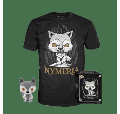 Фигурка и футболка Нимерия (Nymeria Pop and Tee (Размер M)) из сериала Игра Престолов