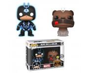 Black Bolt Glow and Lockjaw 2-pack (Эксклюзив Previews Exclusive) из комиксов Inhumans Marvel