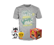 Sylvester and Tweety POP and Tee (Размер M) (PREORDER ZS) из мультфильма Looney Tunes