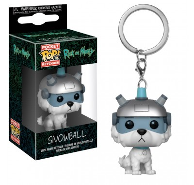 Снаффлз (Снежок) брелок (Snowball keychain) из мультика Рик и Морти