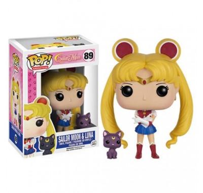 Сейлор Мун и Луна (Sailor Moon with Luna) из мультика Сейлор Мун