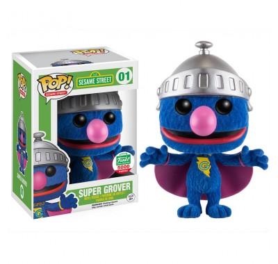 Супер Гровер флокированный (Super Grover flocked (Эксклюзив)) из сериала Улица Сезам