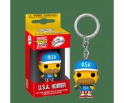 Homer U.S.A Keychain из мультсериала The Simpsons