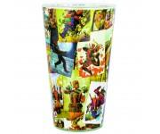 Бокал стеклянный Deadpool Glass 450 мл (PREORDER ZS) из комиксов Deadpool