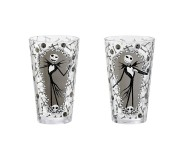 Pint Glass Set Jack and Bones (PREORDER ZS) из мультфильма Nightmare Before Christmas