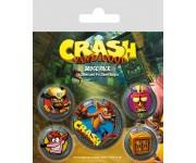 Значки Crash Bandicoot (Pop Out) 5 шт. (PREORDER SALE SEPT) из игры Crash Bandicoot (Крэш Бандикут)