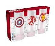 Бокал ABYstyle: MARVEL: Avengers Captain America & Iron Man набор 3шт. (PREORDER SALE SEPT) из фильма Avengers: Endgame (Мстители: Финал)