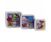 Набор контейнеров для продуктов BT21 Set Of 3 Snack Boxes (PREORDER ZS) из группы BTS (БТС)