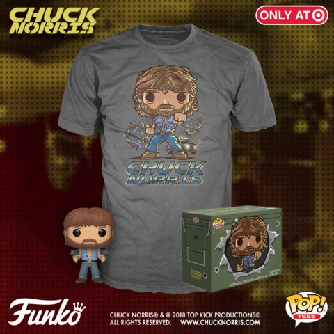 Chuck Norris Pop! and t-shirt