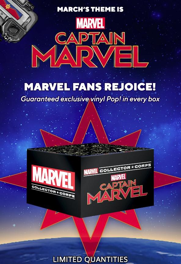 бокс Collector Corps на тему Captain Marvel