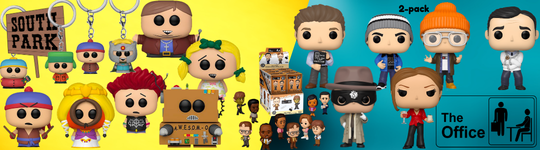 funko pop south park and the office
