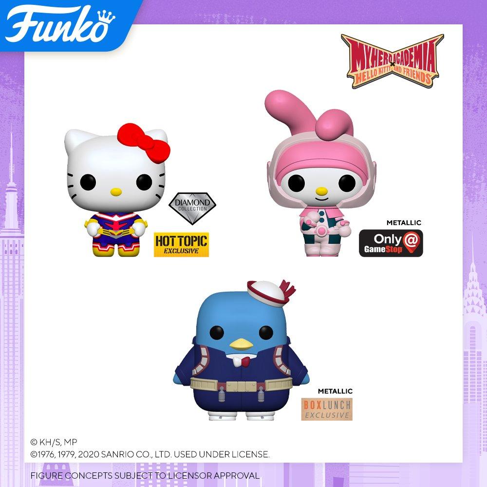 Toy Fair NY2020 Funko POP Hello Kitty x My Hero Academia exclusives