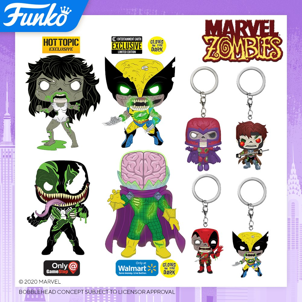 Toy Fair NY2020 Funko POP Marvel Zombies exclusives and keychains