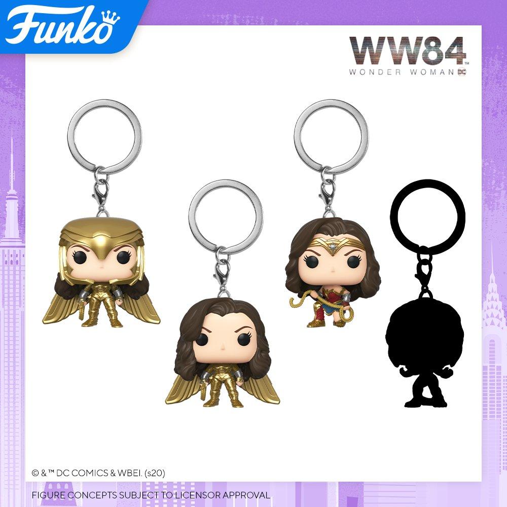 Toy Fair NY2020 Funko POP Wonder Woman 84 keychains