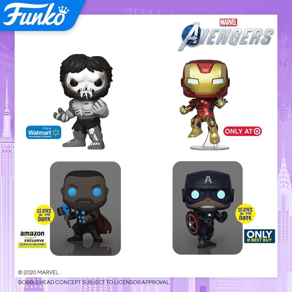 Toy Fair NY2020 Funko POP Avengers Exclusives