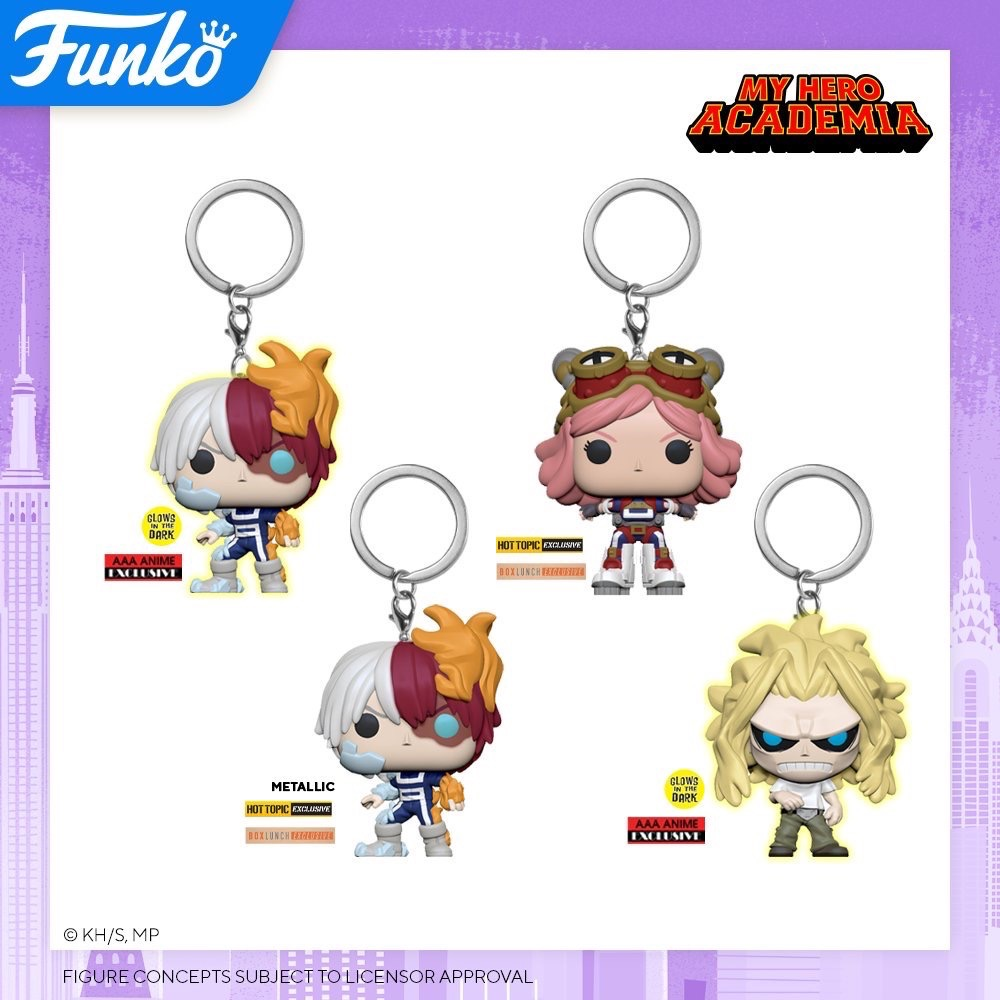 Toy Fair NY2020 Funko POP My Hero Academia keychains