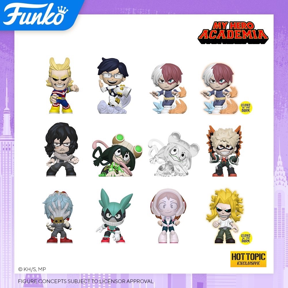 Toy Fair NY2020 Funko POP My Hero Academia Mystery minis Hot Topic