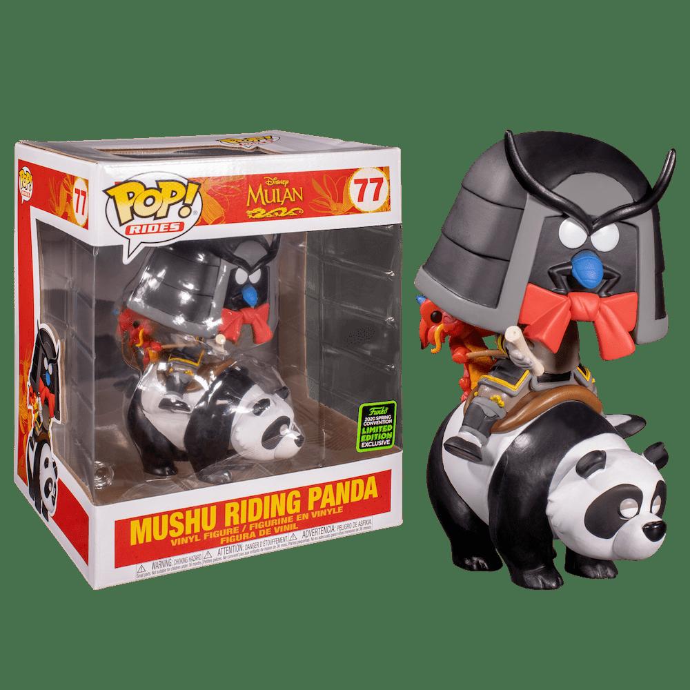 Фанко ПОП Мушу на панде (Mushu on Panda (Эксклюзив ECCC 2020)) из мультика Мулан Дисней