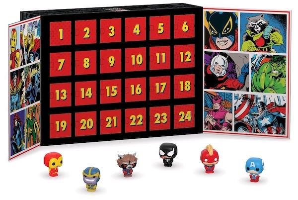Адвент календарь с мини фигурками фанком ПОП Марвел