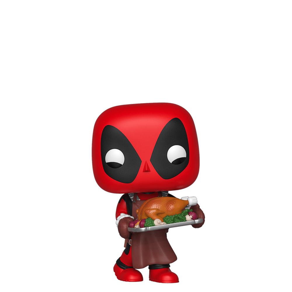 Фанко ПОП Дэдпул с индейкой (Deadpool with Turkey) из комиксов Марвел Праздники