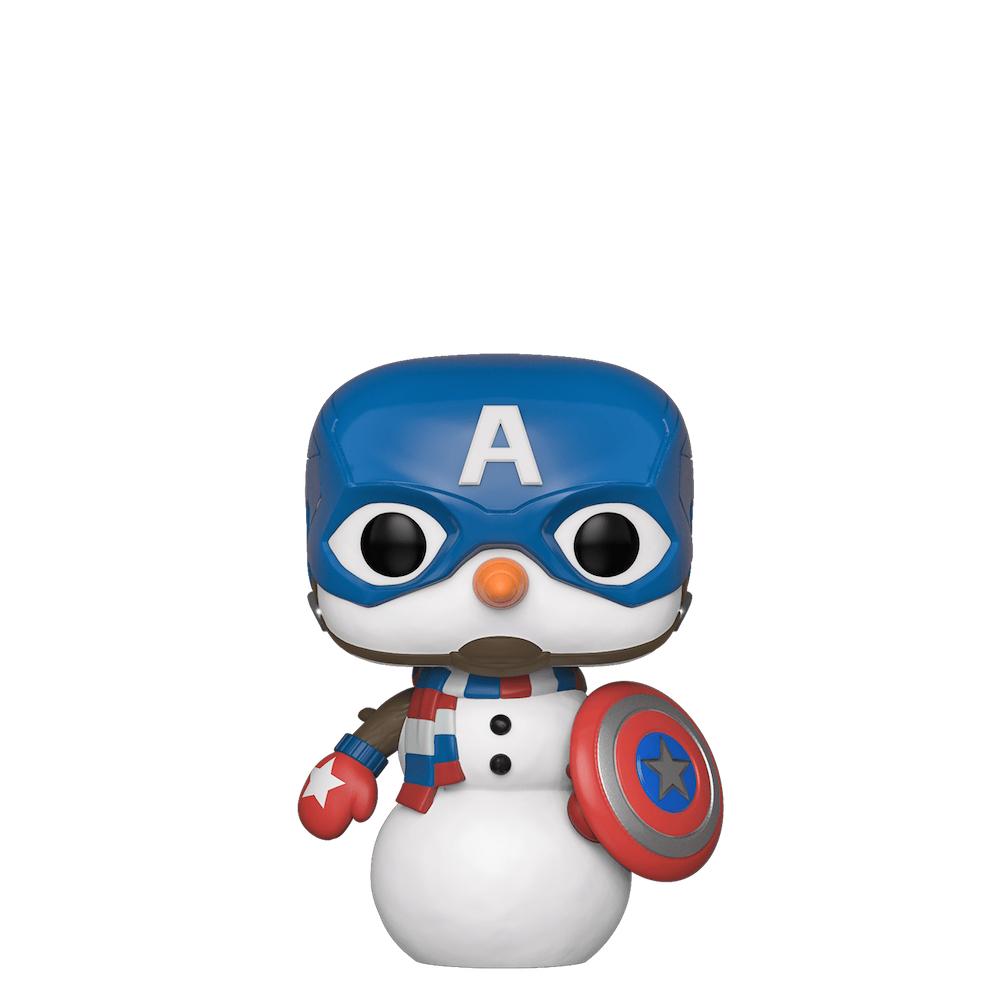 Фанко ПОП Капитан Америка снеговик (Captain America as Snowman) из комиксов Марвел Праздники