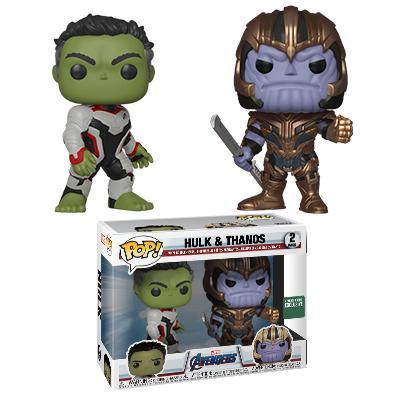 Фанко поп Халк и Танос (Hulk and Thanos 2-pack (Эксклюзив Barnes and Noble)) из фильма Мстители: Финал