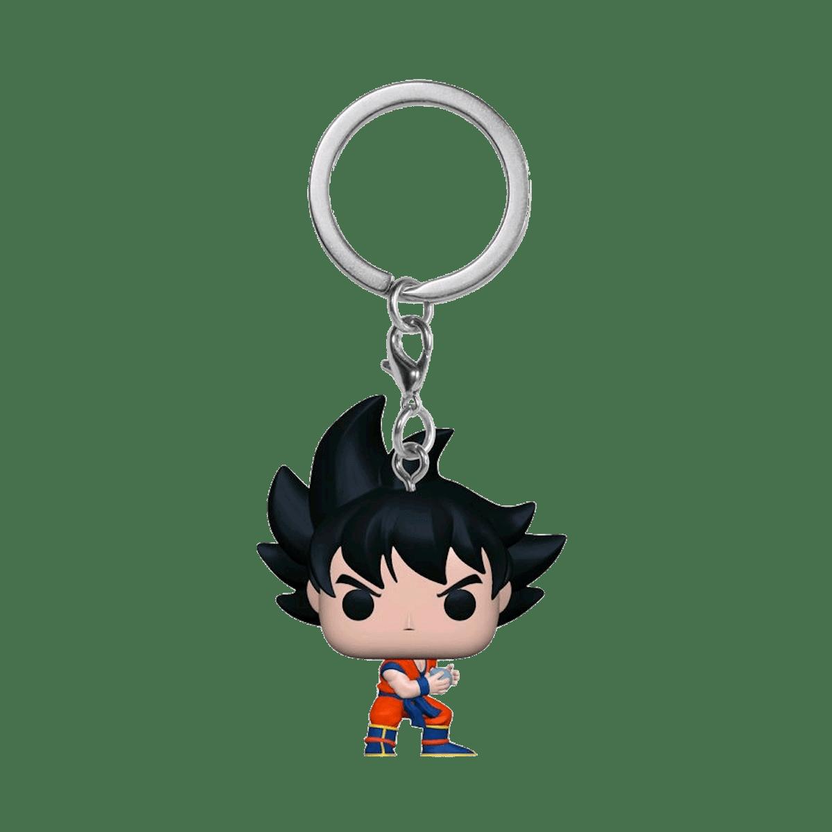 Фанко ПОП Гоку Камехамеха металлик брелок (Goku with Kamehameha Keychain Metallic (Эксклюзив Box Lunch и Hot Topic)) из аниме Драконий жемчуг Зет