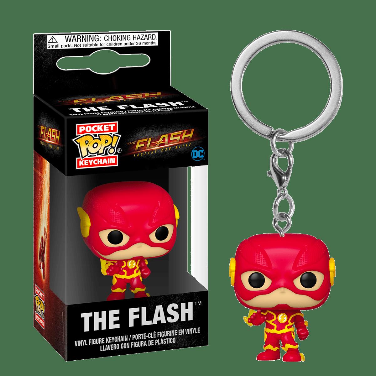 Фанко ПОП Флэш с молниями брелок (The Flash with Lightning Keychain) из сериала Флэш
