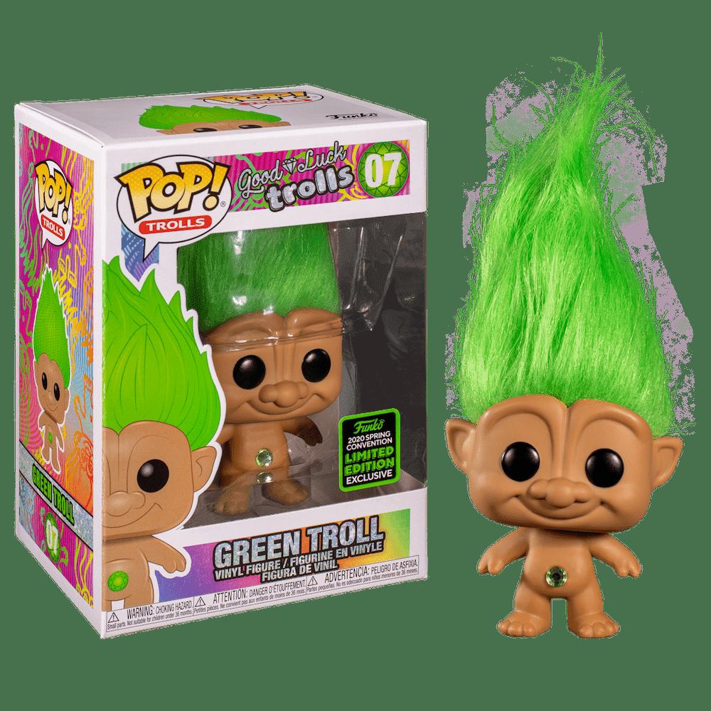 Фанко ПОП Зеленый Тролль (Green Troll (Эксклюзив ECCC 2020)) из серии Тролли на удачу
