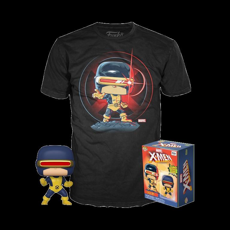 Набор Фигурка и футболка Фанко ПОП Циклоп первое появление (Cyclops First Appearance POP and Tee (Размер 2XL)) из комиксов Марвел Комиксы